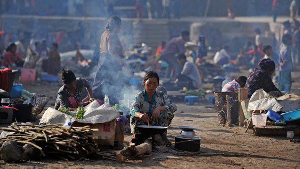 Burma - Krieg - Kachin-Flüchtlinge in einem Auffanglager