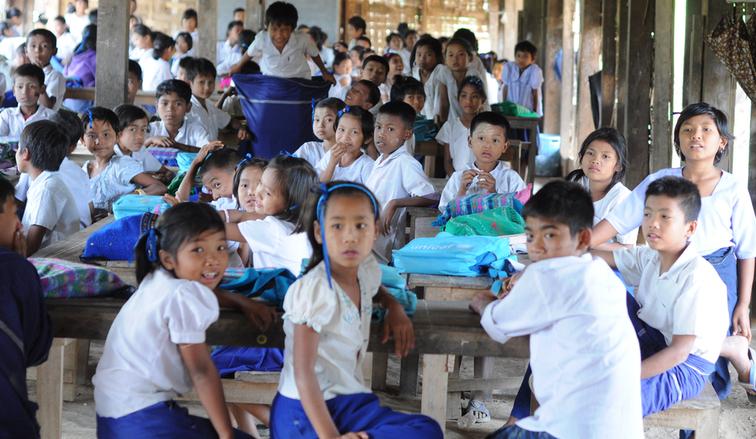 Schulkinder im vom Unternehmen Bedford unterstützten Projekt in Burma
