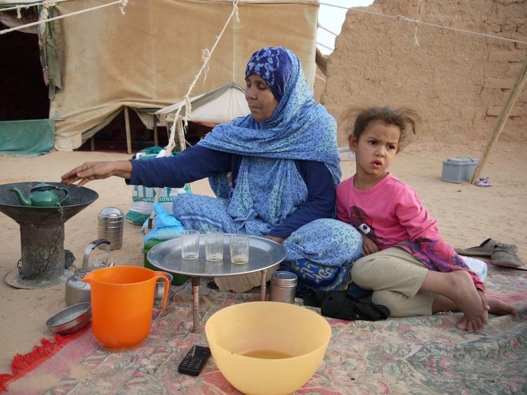 Kaum eine Perspektive: Familie in einem Sahraoui-Flüchtlingslager