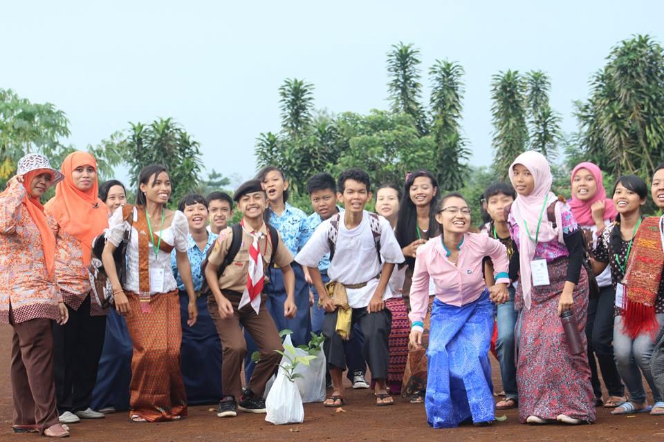 Treffen mit Studenten in Bogor