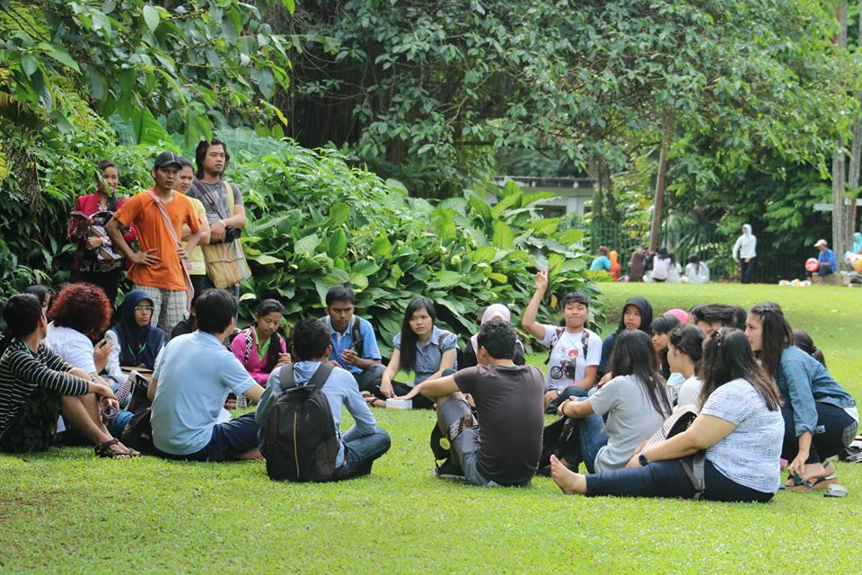 Im botanischen Garten von Bogor